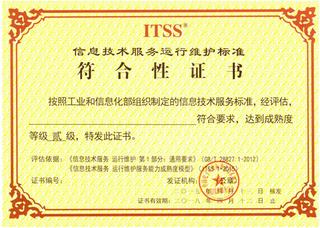 ITSS 信息技術服務標準咨詢服務